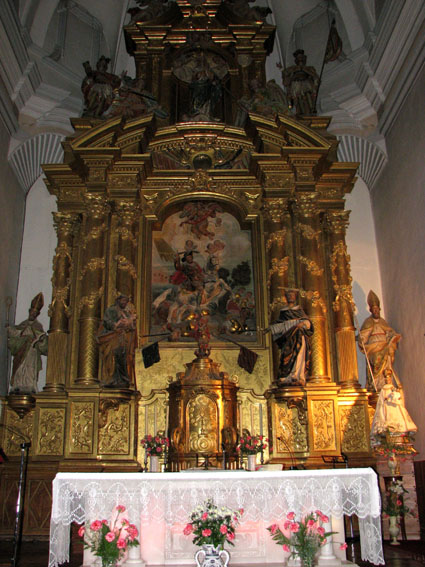 Retable de l'église paroissiale.