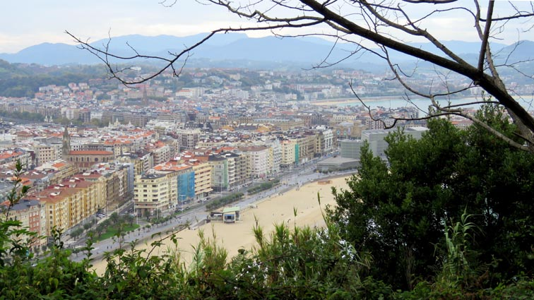 Point de vue sur Donosti